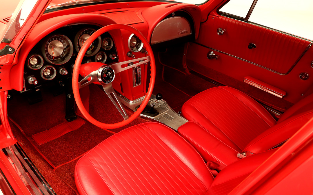 The 1963 Split Window Corvette Interior Will Have You Seeing Red